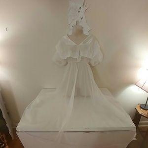 Vintage Val Mode sheer white chiffon robe